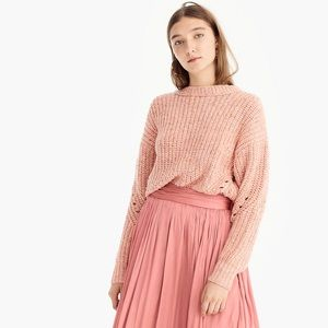 J. CREW Point Sur Chunky Rib Knit Crewneck Sweater